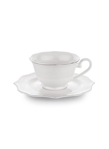 Schafer 12 Parça Dantella Çay Fincan Takımı - PLT01 Renkli